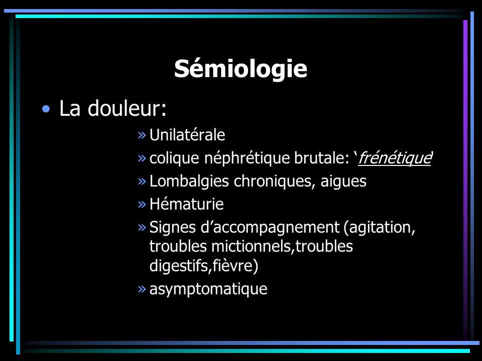 Sémiologie La douleur: Unilatérale