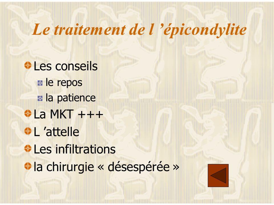 Le traitement de l 'épicondylite