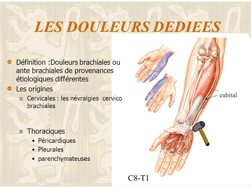 LES DOULEURS DEDIEES C5-C6 C8-T1
