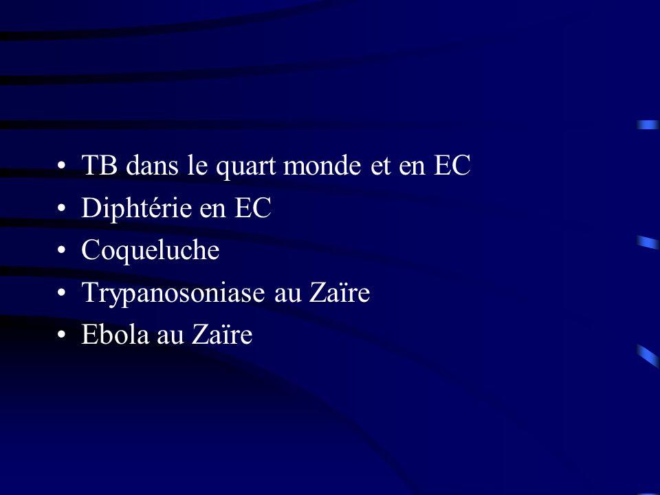 TB dans le quart monde et en EC