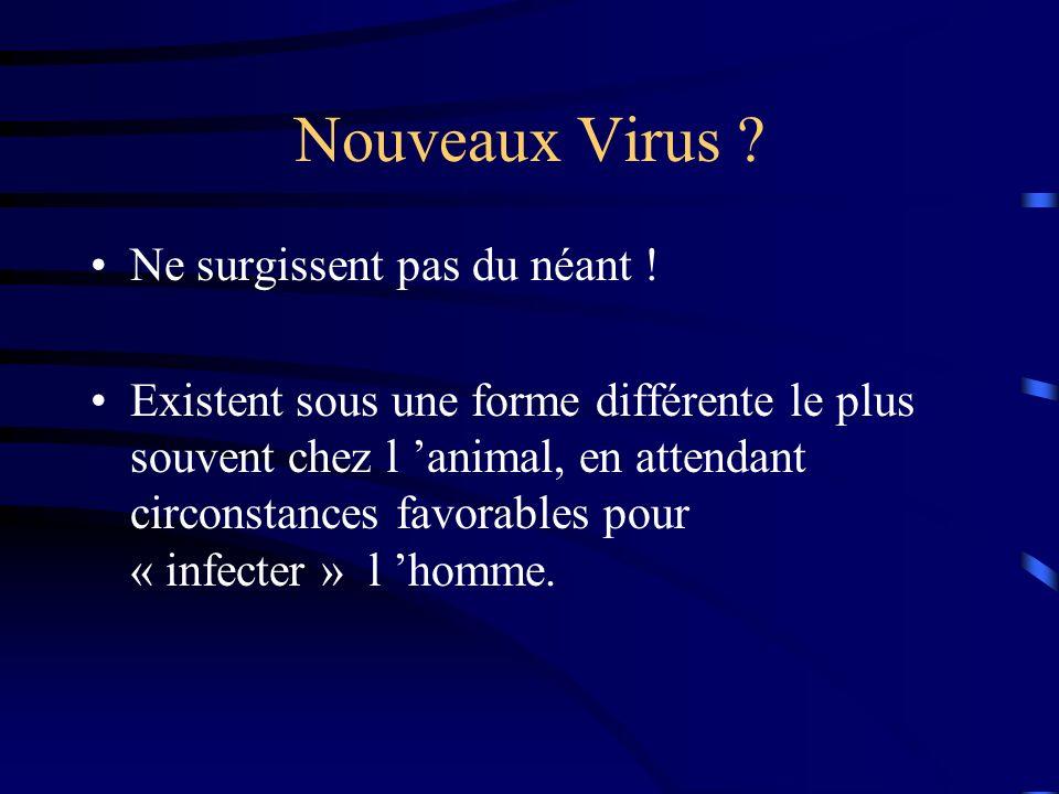Nouveaux Virus Ne surgissent pas du néant !