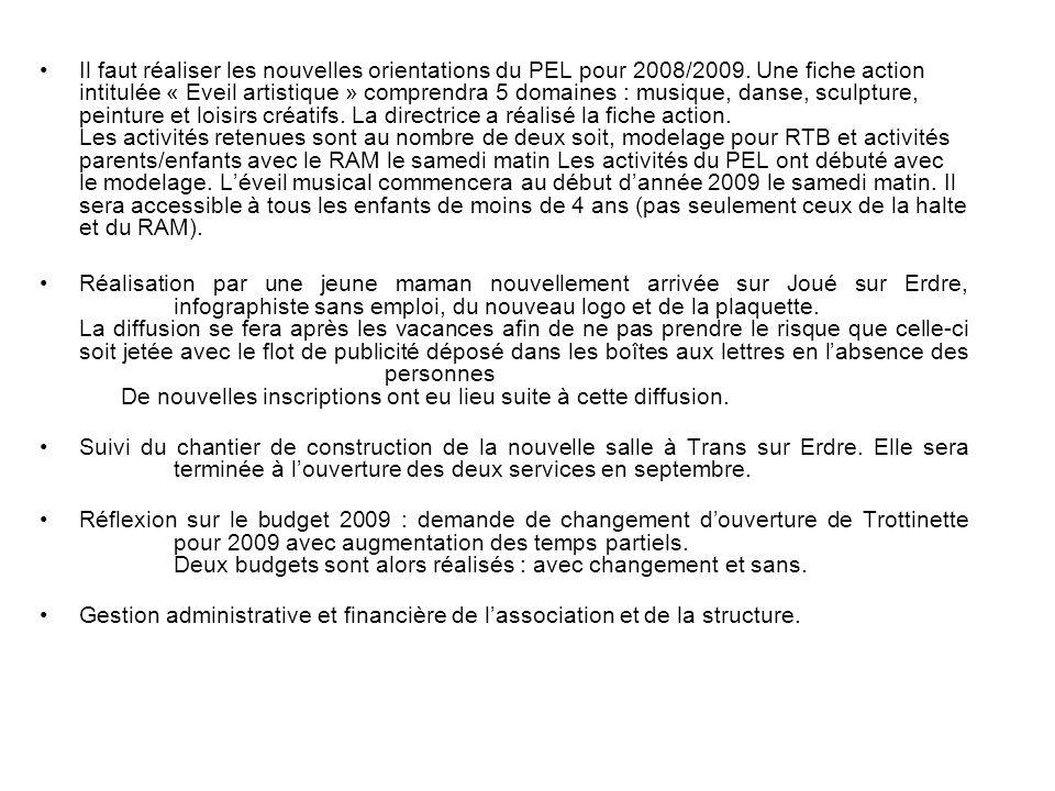 Il faut réaliser les nouvelles orientations du PEL pour 2008/2009
