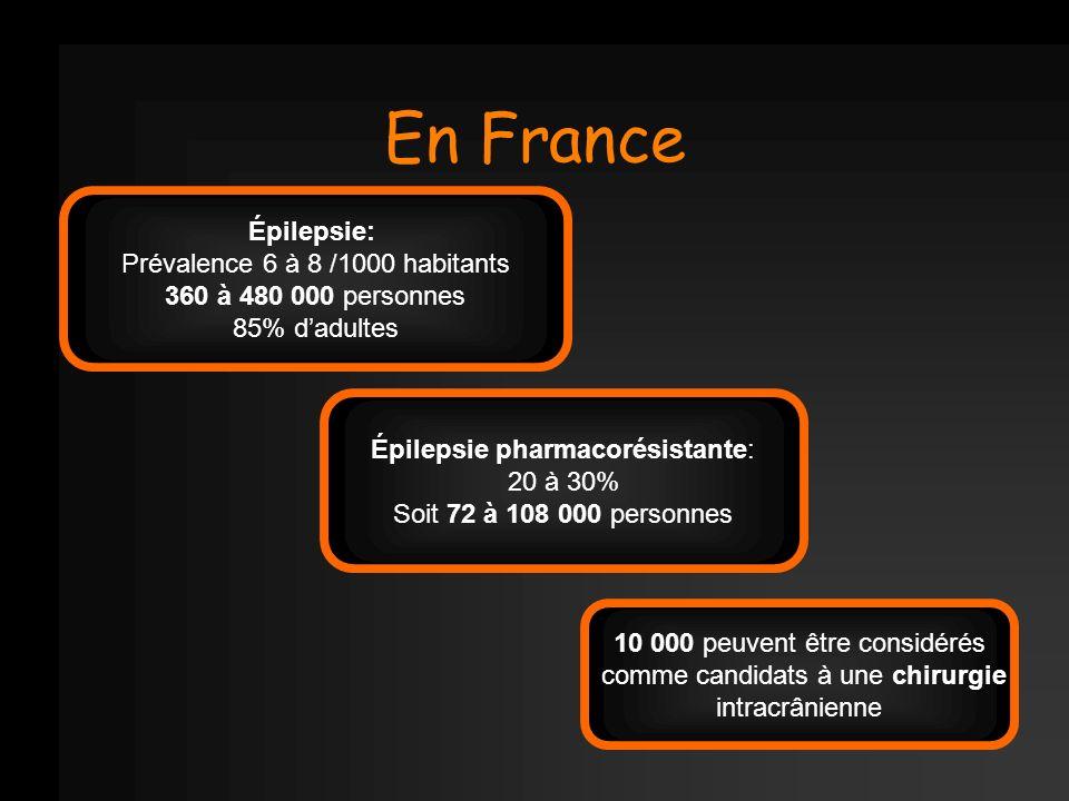 En France Épilepsie: Prévalence 6 à 8 /1000 habitants