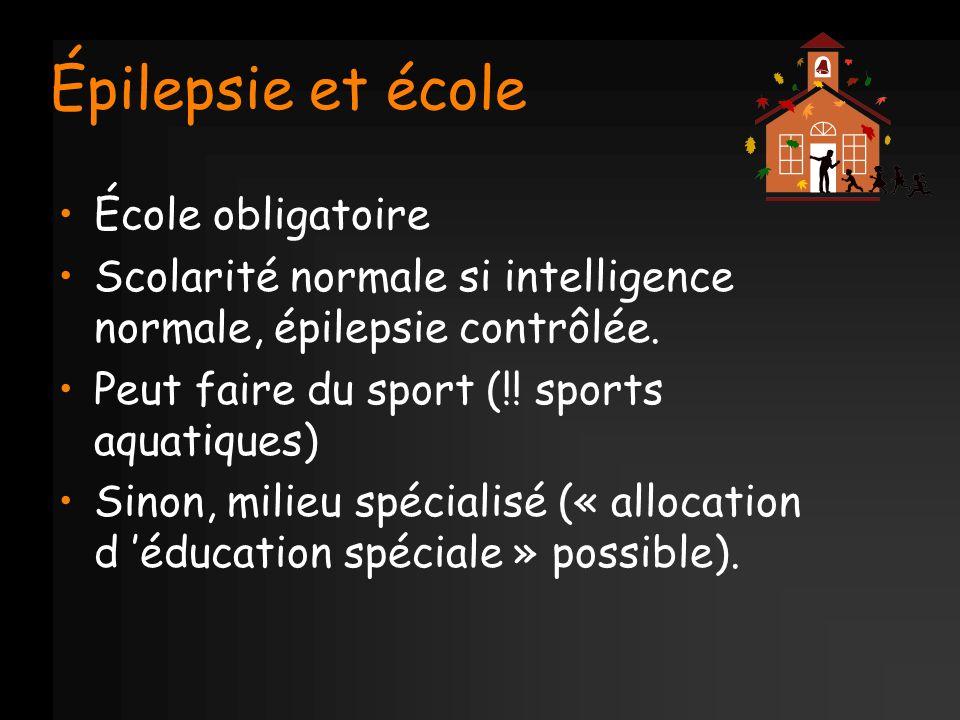 Épilepsie et école École obligatoire