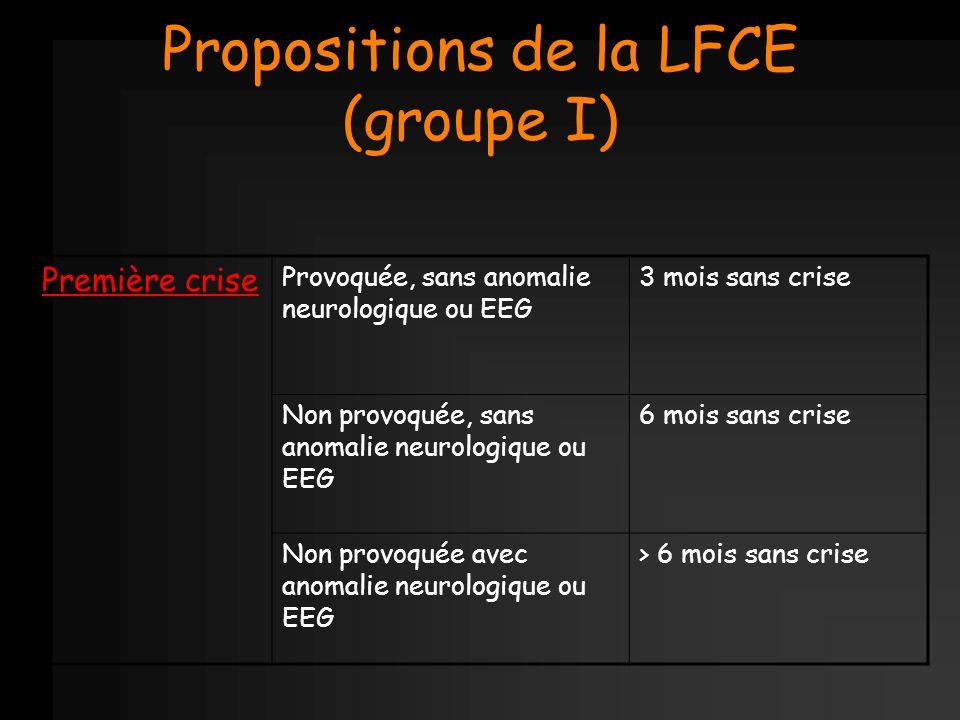 Propositions de la LFCE (groupe I)