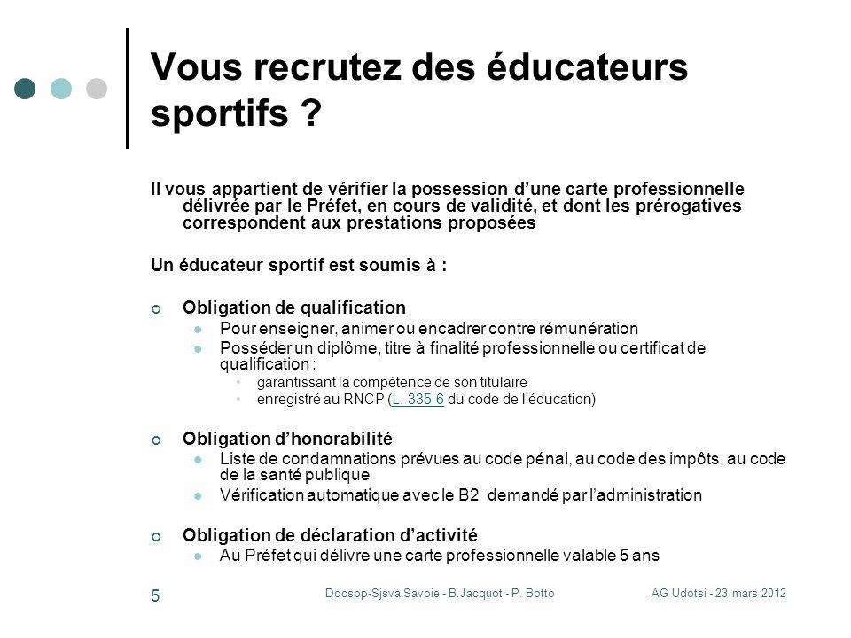 Vous recrutez des éducateurs sportifs