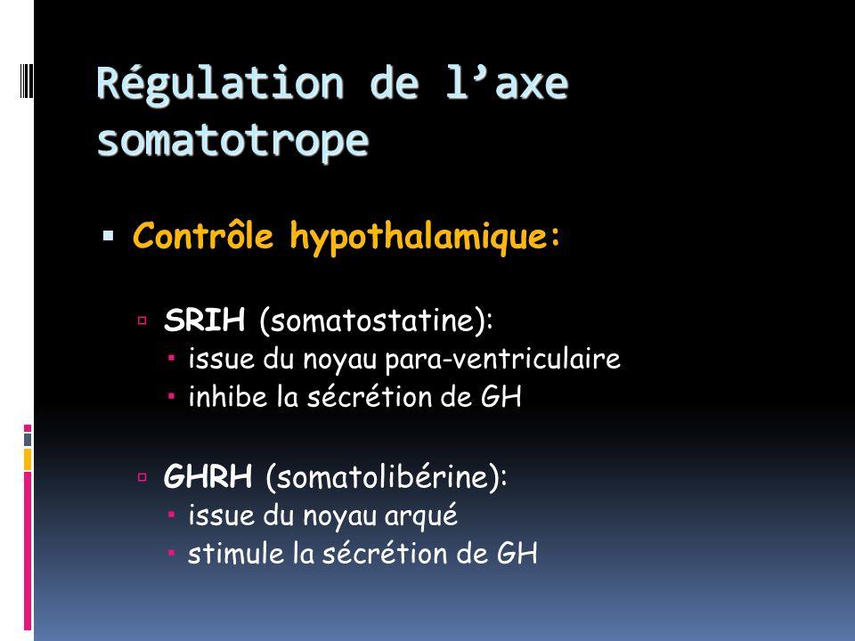 Régulation de l'axe somatotrope