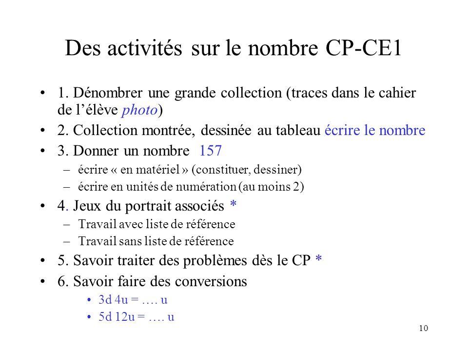 Des activités sur le nombre CP-CE1