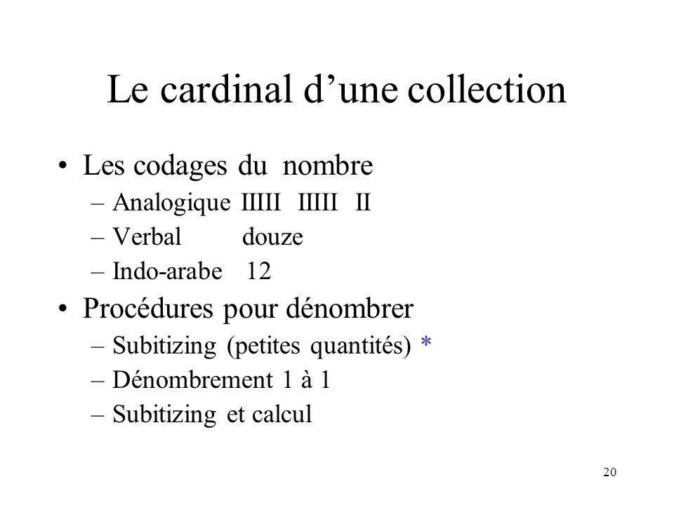 Le cardinal d'une collection