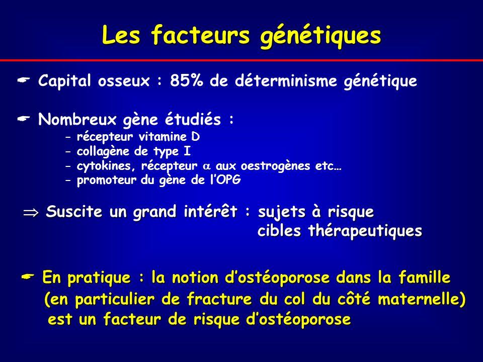 Les facteurs génétiques