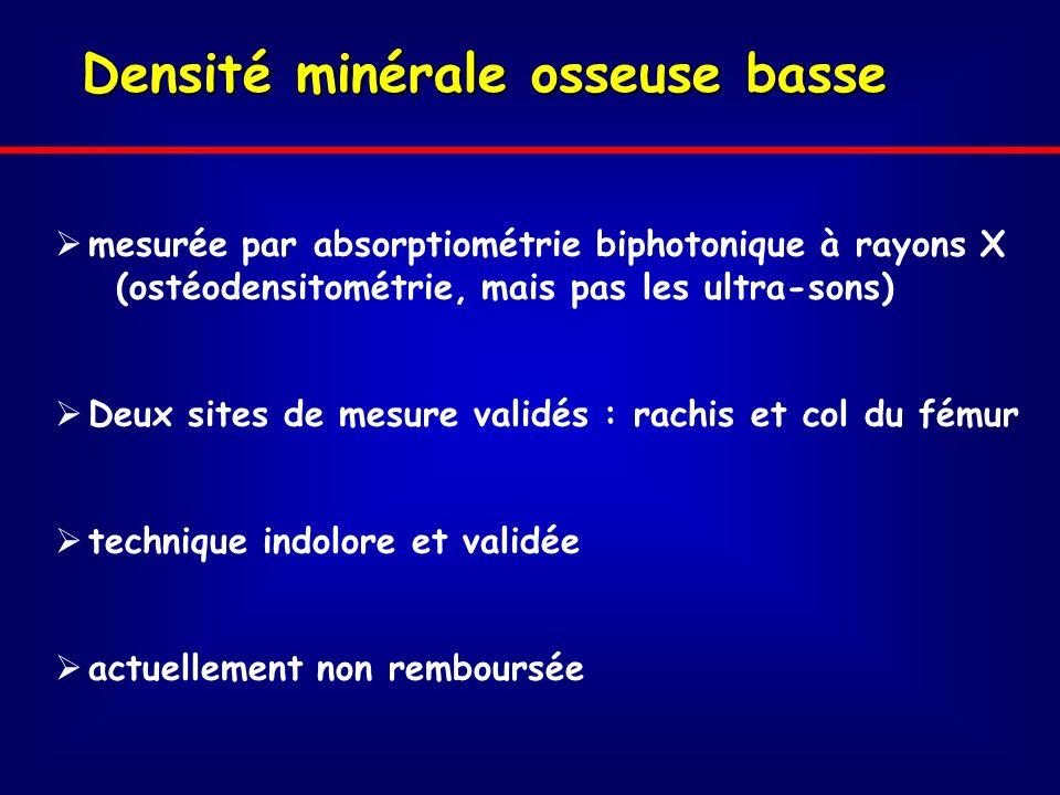 Densité minérale osseuse basse