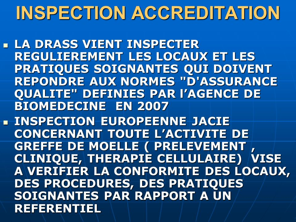 INSPECTION ACCREDITATION