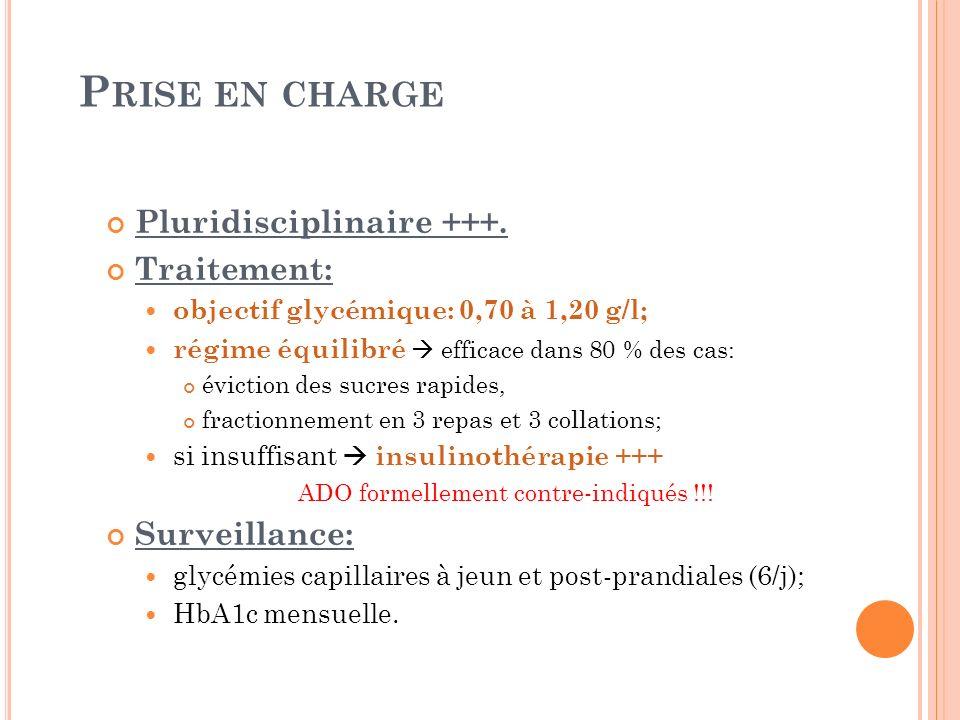 Prise en charge Pluridisciplinaire +++. Traitement: Surveillance: