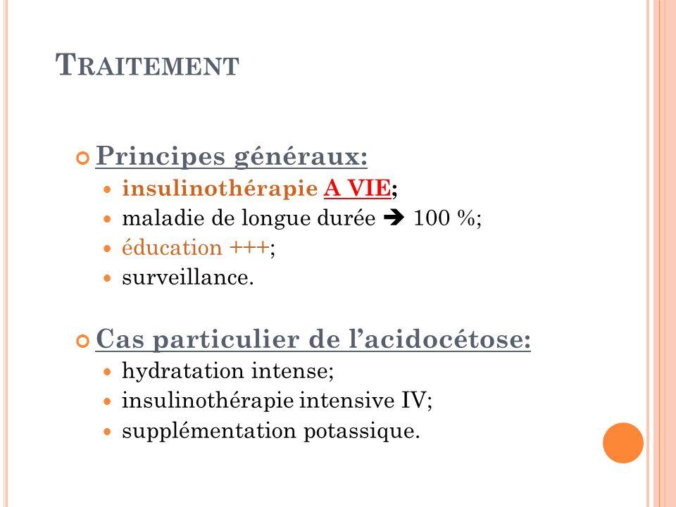 Traitement Principes généraux: Cas particulier de l'acidocétose:
