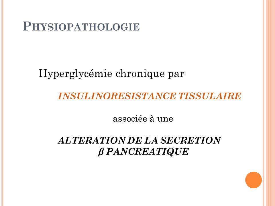 Physiopathologie Hyperglycémie chronique par