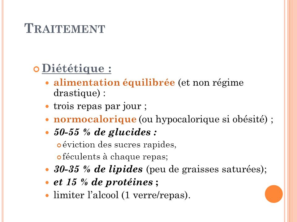 Traitement Diététique :
