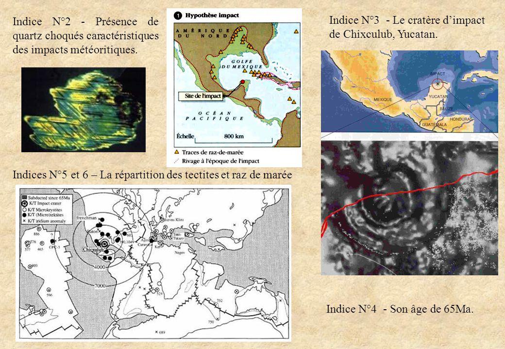 Indices N°5 et 6 – La répartition des tectites et raz de marée