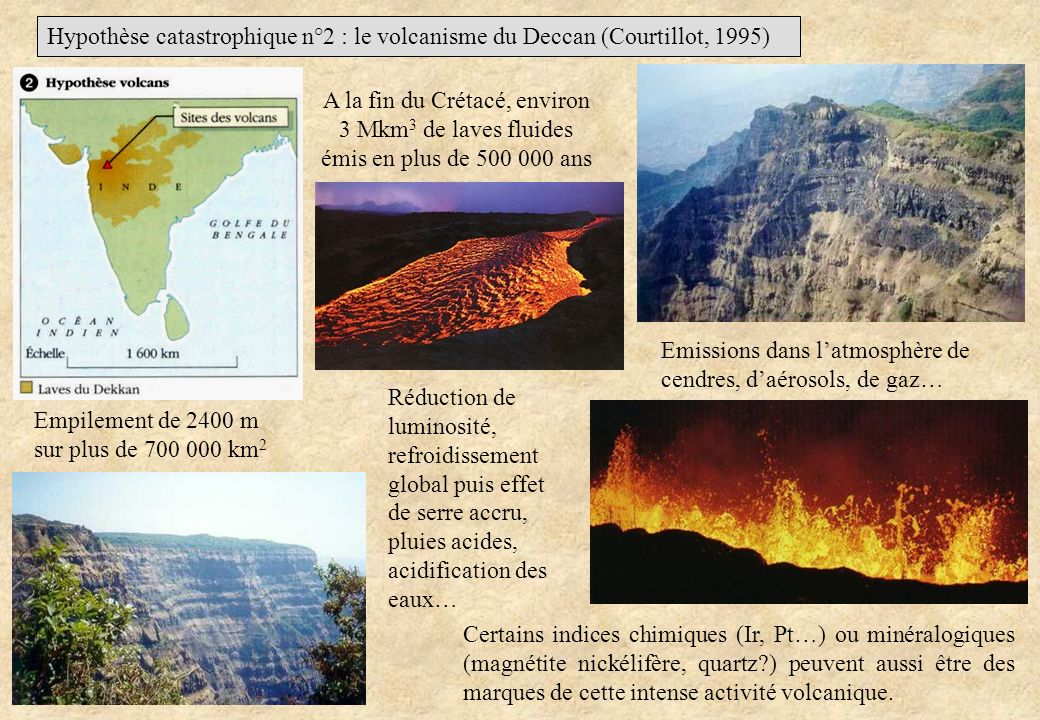 Hypothèse catastrophique n°2 : le volcanisme du Deccan (Courtillot, 1995)