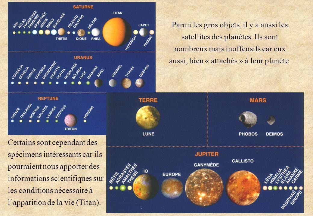 Parmi les gros objets, il y a aussi les satellites des planètes