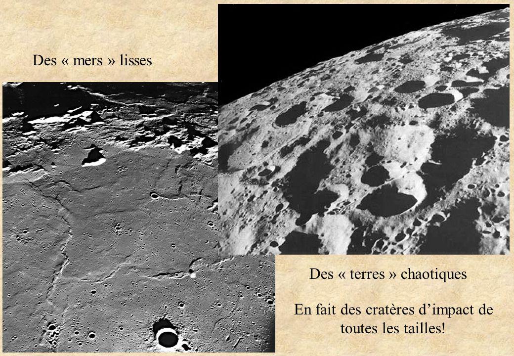 En fait des cratères d'impact de toutes les tailles!