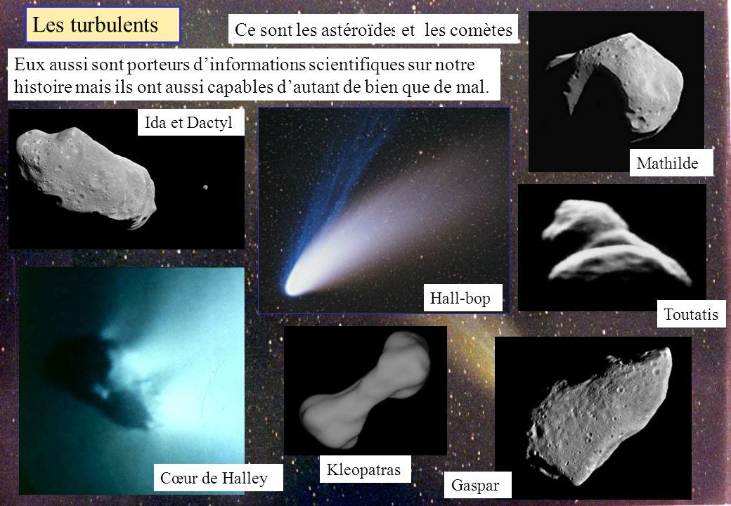 Les turbulents Ce sont les astéroïdes et les comètes