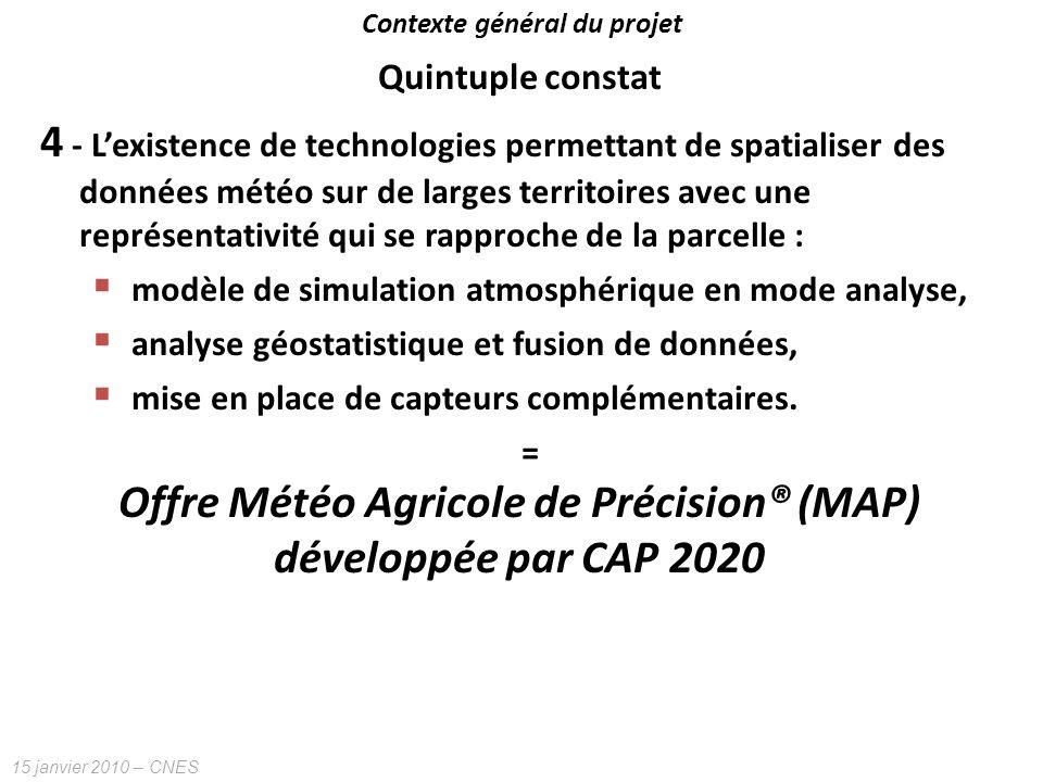 Contexte général du projet Offre Météo Agricole de Précision® (MAP)