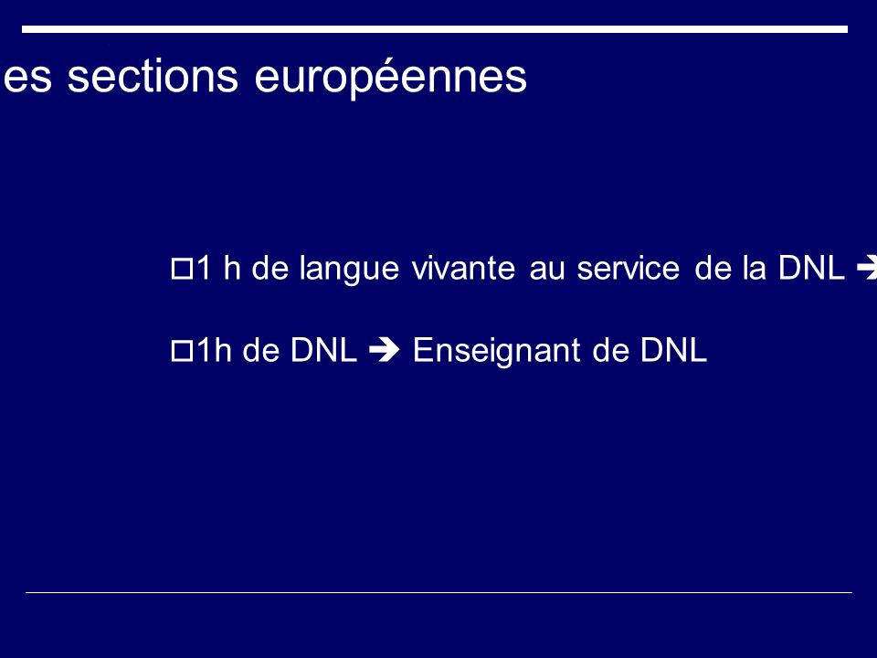 Horaires des sections européennes