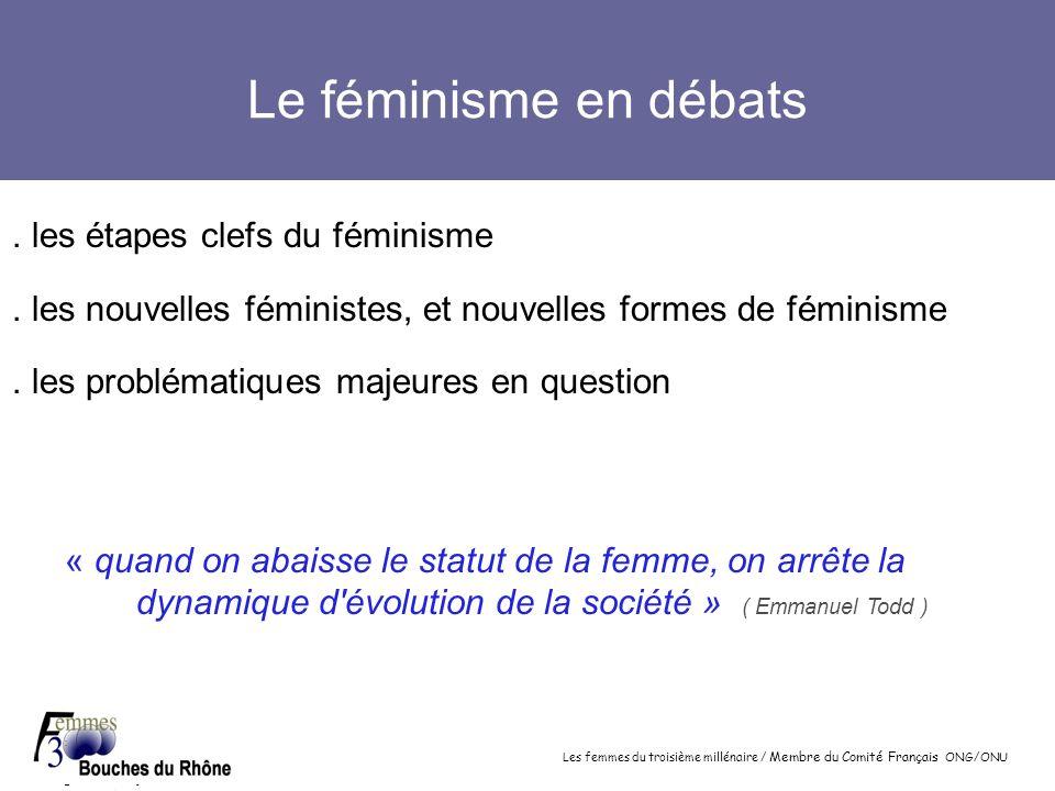 Le féminisme en débats . les étapes clefs du féminisme