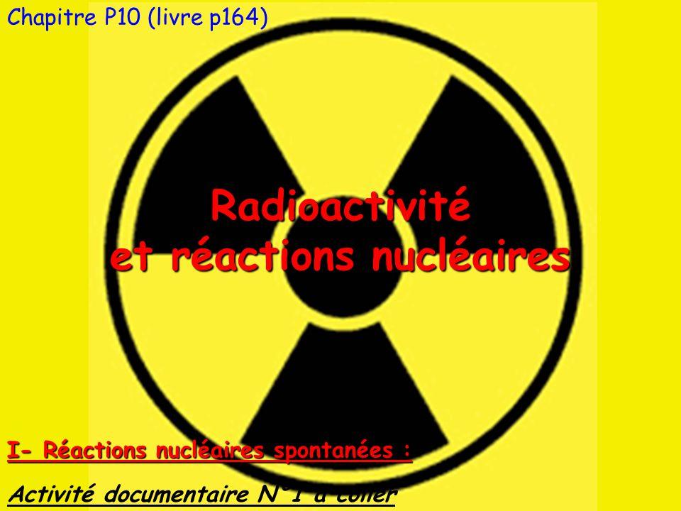 et réactions nucléaires
