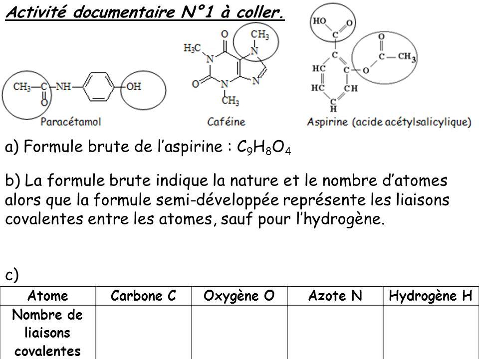Nombre de liaisons covalentes
