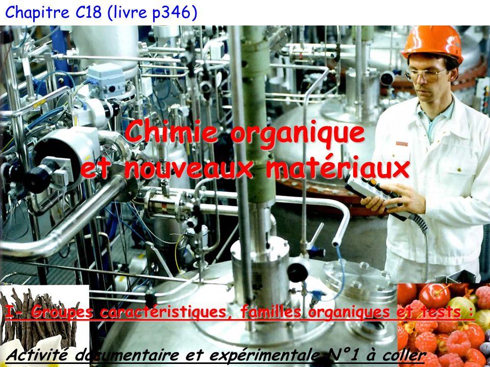 Chimie organique et nouveaux matériaux
