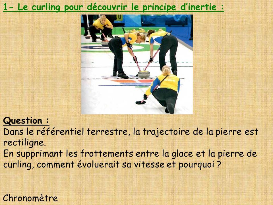 1- Le curling pour découvrir le principe d'inertie :