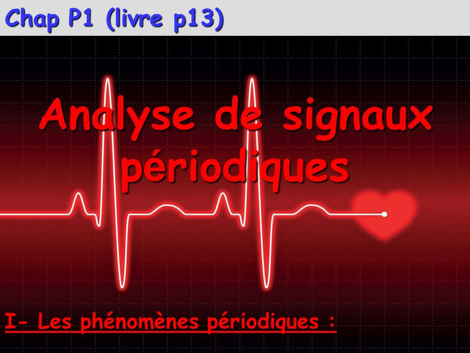 Analyse de signaux périodiques