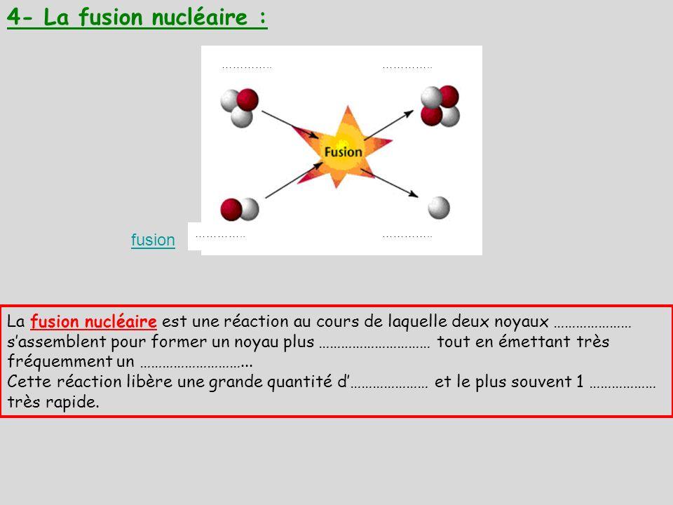 4- La fusion nucléaire : fusion