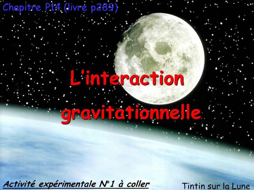 L'interaction gravitationnelle