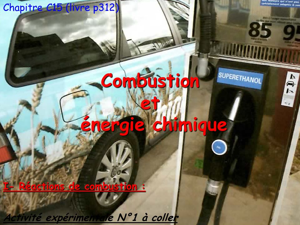 Combustion et énergie chimique