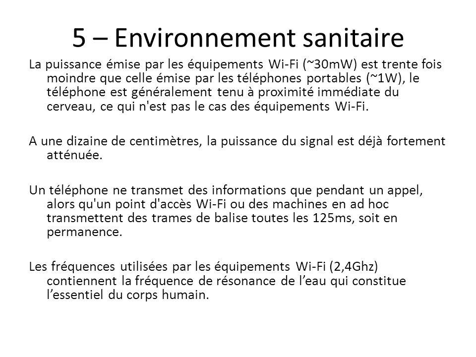 5 – Environnement sanitaire