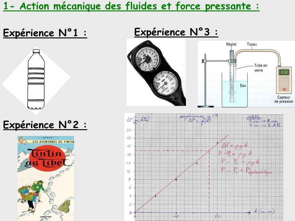 1- Action mécanique des fluides et force pressante :