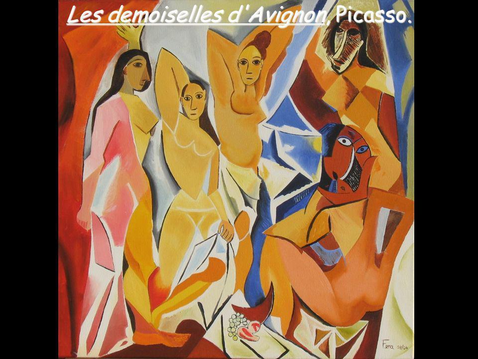 Les demoiselles d Avignon, Picasso.