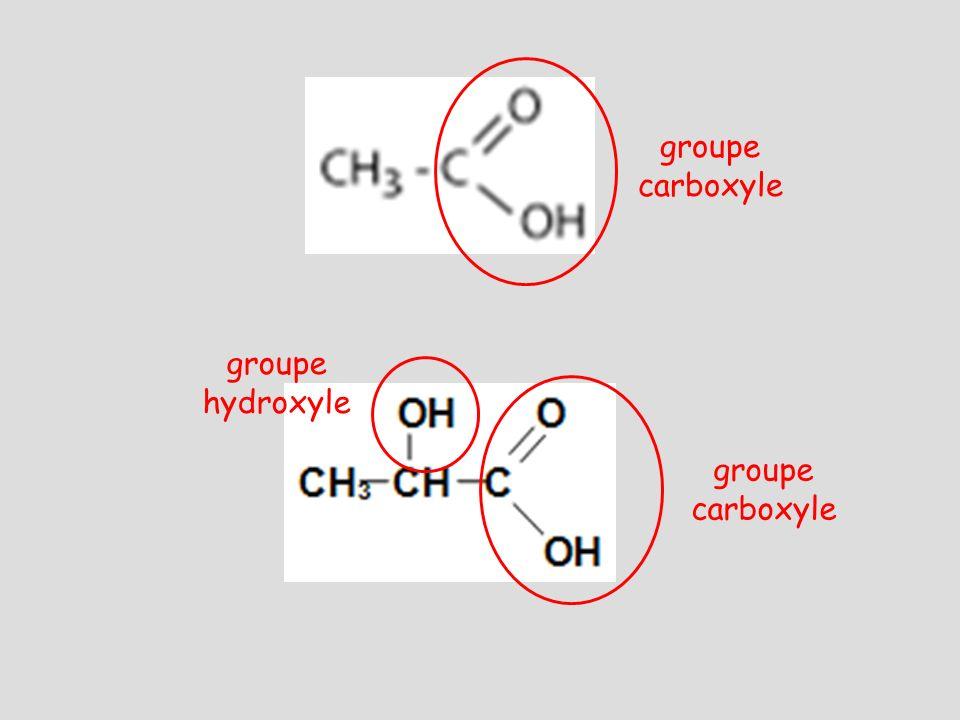 groupe carboxyle groupe hydroxyle groupe carboxyle