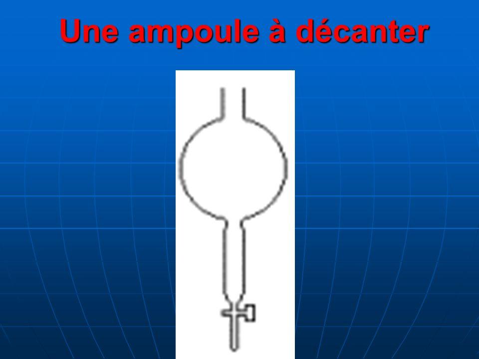 Une ampoule à décanter