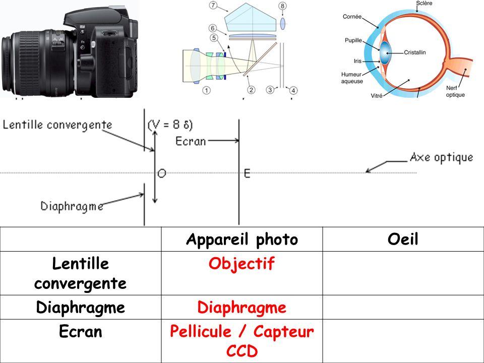 Pellicule / Capteur CCD
