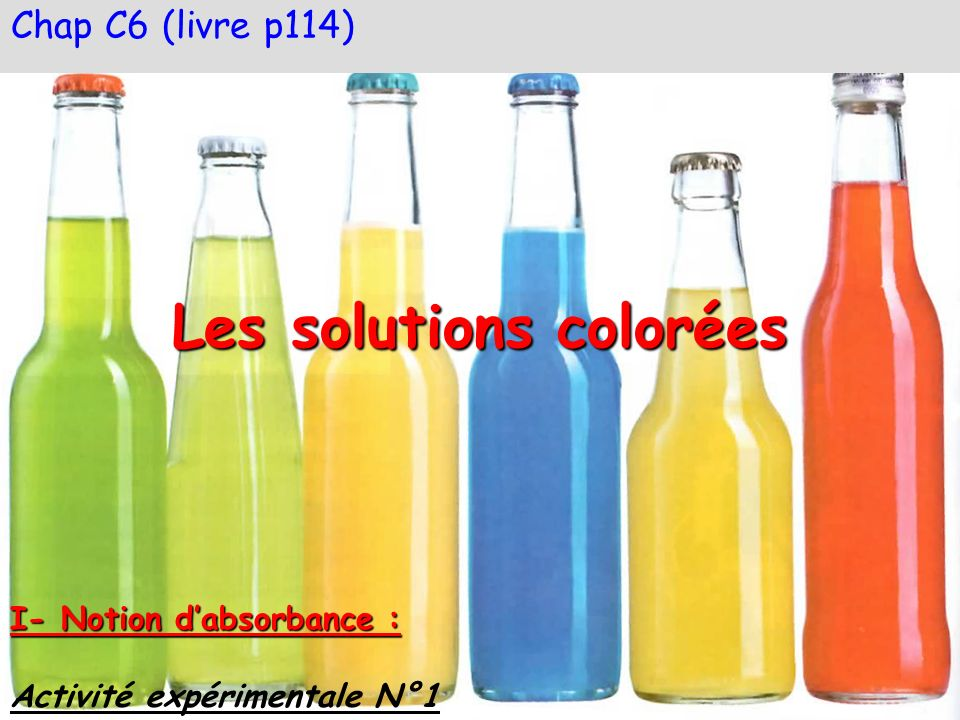 Les solutions colorées