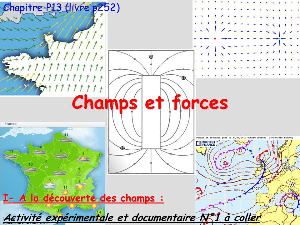 Champs et forces Chapitre P13 (livre p252)