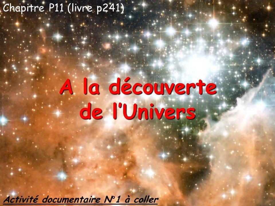 A la découverte de l'Univers