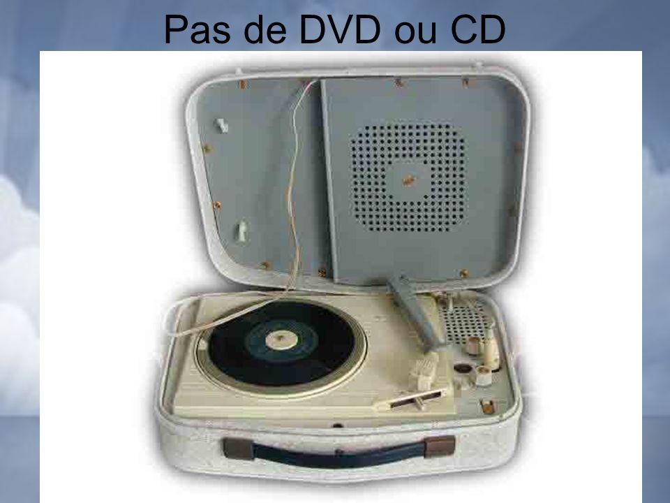 Pas de DVD ou CD