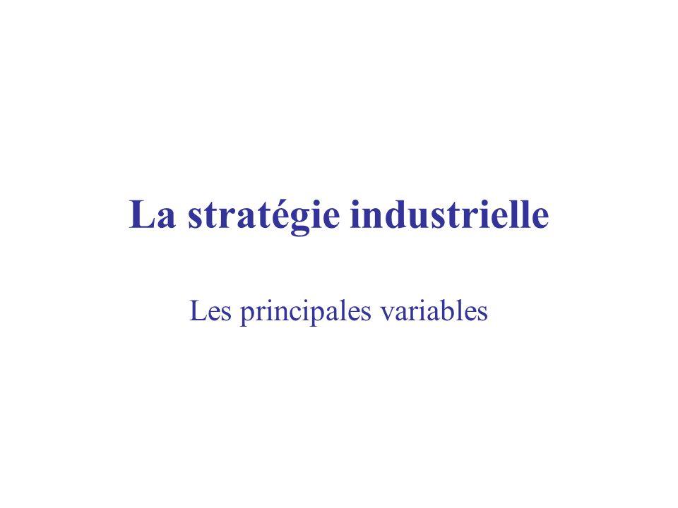 La stratégie industrielle
