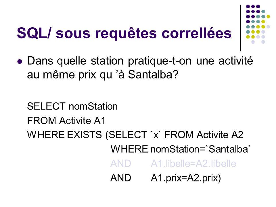 SQL/ sous requêtes correllées