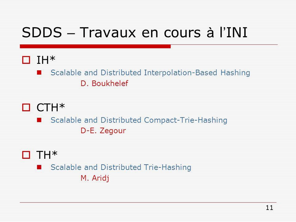 SDDS – Travaux en cours à l'INI