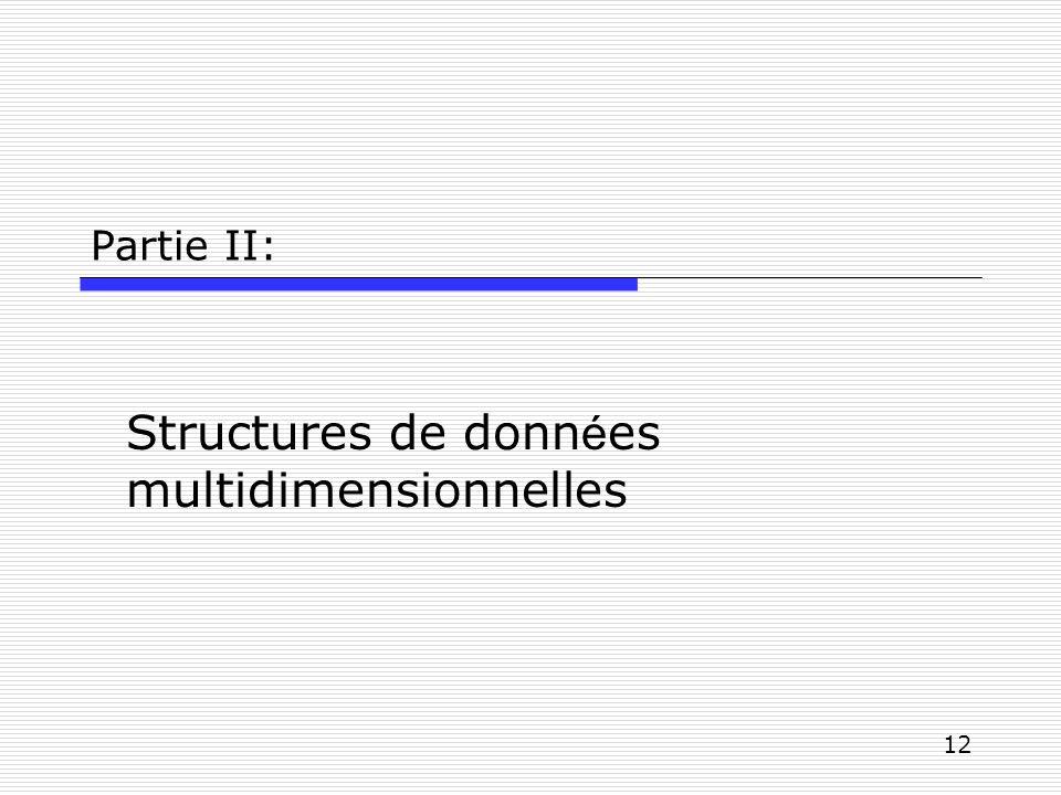 Structures de données multidimensionnelles